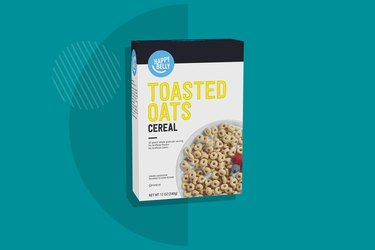 A photo of Happy Belly Toasted Oats Cereal
