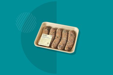 A photo of GreenWise Antibiotic Free Chicken Sausage with Kale