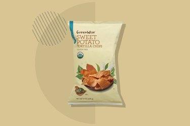 A photo of GreenWise Organic Sweet Potato Tortilla Chips
