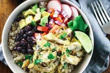 Chicken Tomatillo Quinoa Bowl