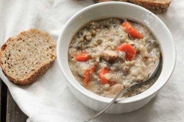 Lightened-Up Slow Cooker Chicken Wild Rice Soup recipe