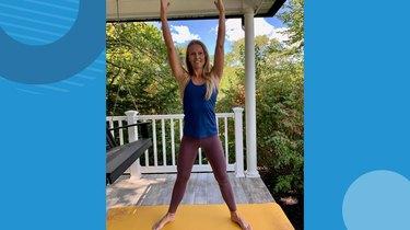Move 6: Squat and Arm Raise