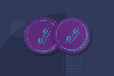 purple iQinQi exercise sliders on navy background