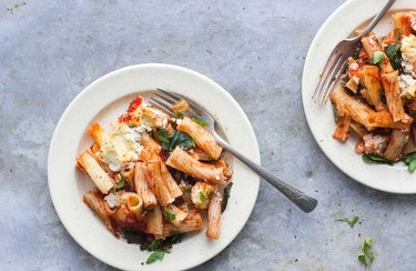 Baked Ziti With Spinach and Herbed Ricotta tofu recipes