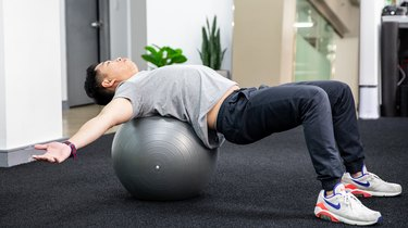 6. Stability Ball Chest Stretch