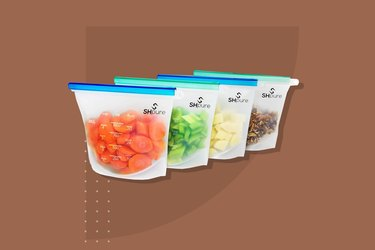 SH Pure Reusable Silicone Food Storage Bags