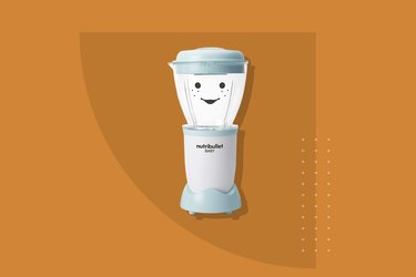 The Nutribullet Baby: The Complete Baby Food Prep System, which comes with a smiley face on its processing vessel