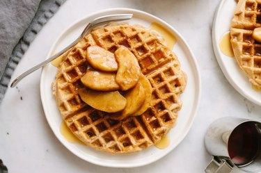 Best Applesauce Waffles applesauce breakfast recipes
