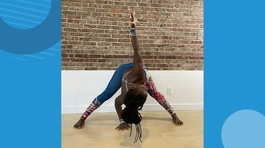 Move 7: Wide-Legged Forward Fold With Twist
