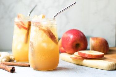 Sparkling Apple-Ginger Mocktail
