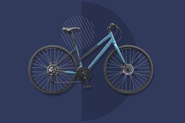 Schwinn Super Sport fitness bike on dark blue background