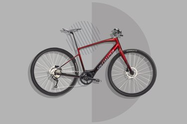 red Specialized Turbo Vado SL Equipped ebike on gray background