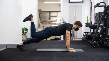 Plank With Hip Extension Pulses