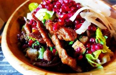 Beef and Pomegranate Salad With Orange-Ginger Vinaigrette