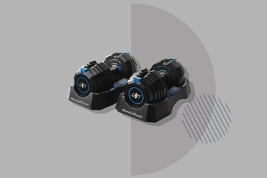 NordicTrack Select-a-Weight Dumbbells on gray background