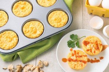 Buffalo Chicken Egg Bakes chicken breakfast recipes