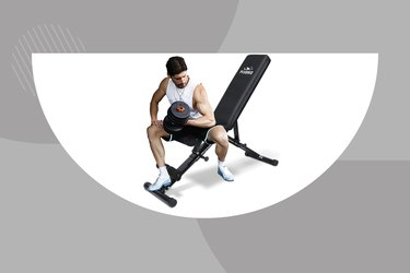 FlyBird Adjustable Bench with a gray background