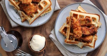 Easy Chicken and Protein Waffles chicken breakfast recipes