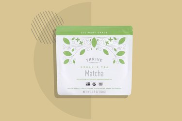 Thrive Market Organic Culinary Matcha Tea displayed on a beige background