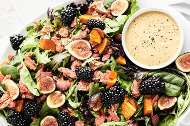 Sweet Potato, Fig, Blackberry Fall Salad