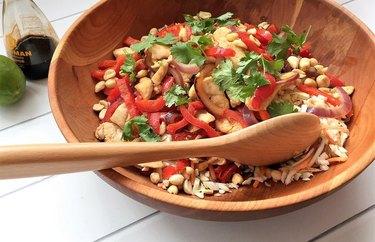 Asian Chicken Stir-Fry Salad