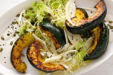 Roasted Squash Salad With Tahini-Honey Dressing