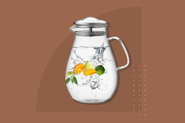 Hiwater Glass Pitcher With Filtered Lid