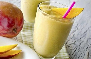 Sunshine Smoothie with mango on table