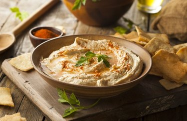 Hummus provides 6 grams of fiber per serving.