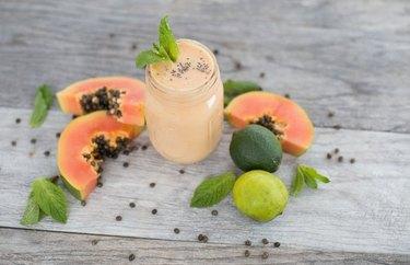 Papaya, Yogurt and Peppermint Smoothie recipe