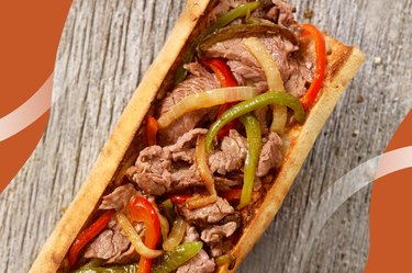 Chilly Philly Cheesesteak on a wooden table