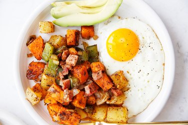 Leftover Ham and Potato Hash