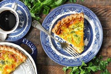 Ham, Cheddar and Broccoli Quiche