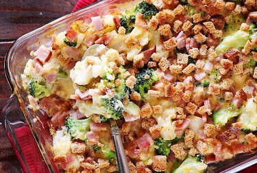 Ham, Broccoli & Cauliflower Casserole