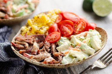 Pulled Pork Bowls With Avocado Slaw