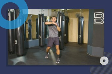 photo of BoxUnion coach Justin Blackwell doing beginner boxing workout