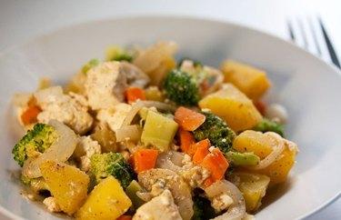 Acorn Squash with Broccoli recipe