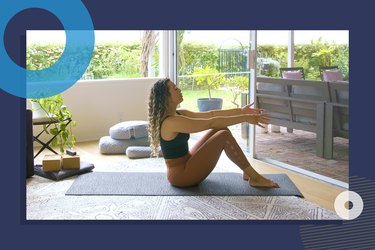 photo of yoga instructor Hailey Lott doing 15-minute yoga workout for flexibility