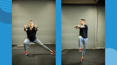 Move 4: Lateral Lunge to Single-Leg Balance With Rotation