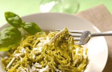 Simple Spaghetti Squash with Pesto spaghetti squash recipes