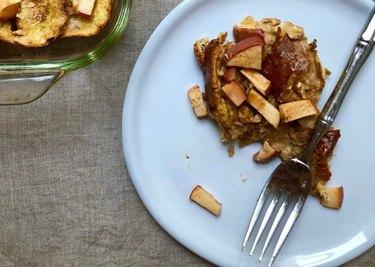 Apple walnut french toast
