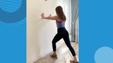Move 1: Wall Calf Stretch