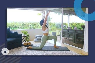 photo of yoga instructor Hailey Lott doing 20-minute Vinyasa yoga flow