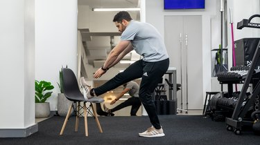 Move 2: Foot on Chair Hamstring Stretch