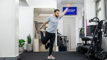 Move 1: Standing Quad Stretch