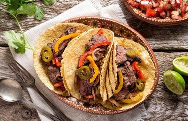 Green Chile Flank Steak Tacos