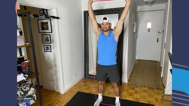 Move 5: Banded Standing Overhead Press