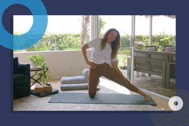photo of yoga instructor Hailey Lott doing 10-minute deep stretch yoga