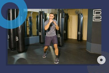 photo of BoxUnion coach Justin Blackwell doing full-body equipment-free boxing workout