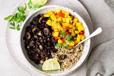 Cuban Black Bean and Mango Bowl